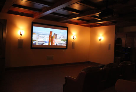Home Theater with projector
